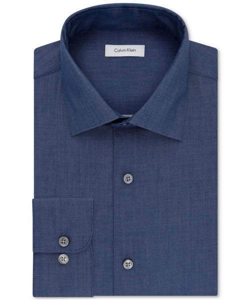 Calvin Klein STEEL Classic-Fit Non-Iron Performance Dress Shirt - CheapUndies.com