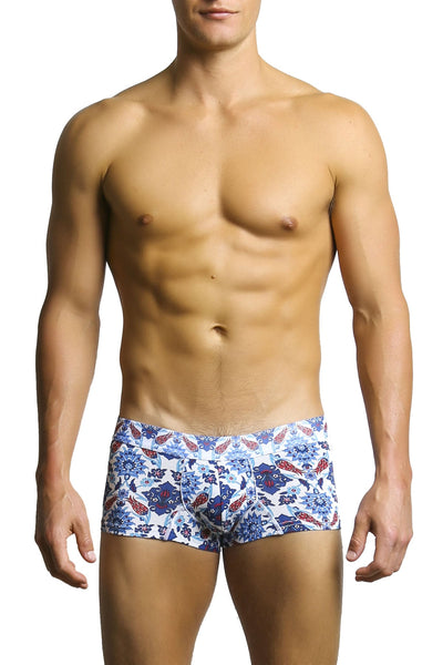 Doreanse Blue Flora Boxer Brief
