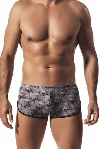 Pikante Black 70's Gym Short Style Boxer Brief