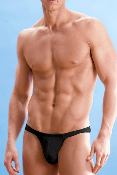 Contour Black Basic Thong - CheapUndies.com