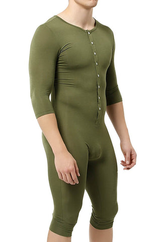 Trend Green 3/4-Length Body Suit