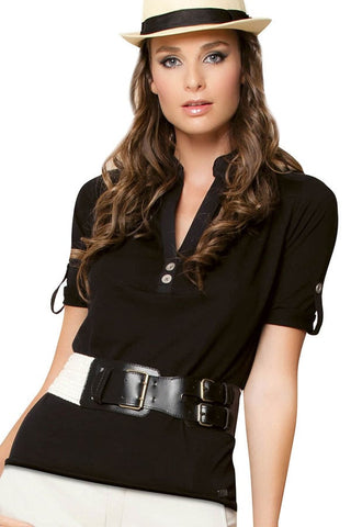 Fiory Black Lisa Shirt
