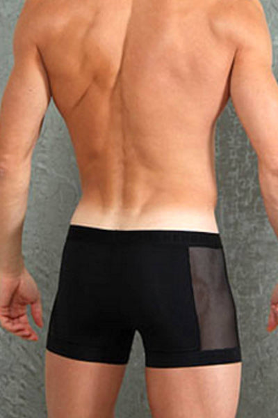 Doreanse Black Side Mesh-Panel Boxer Brief