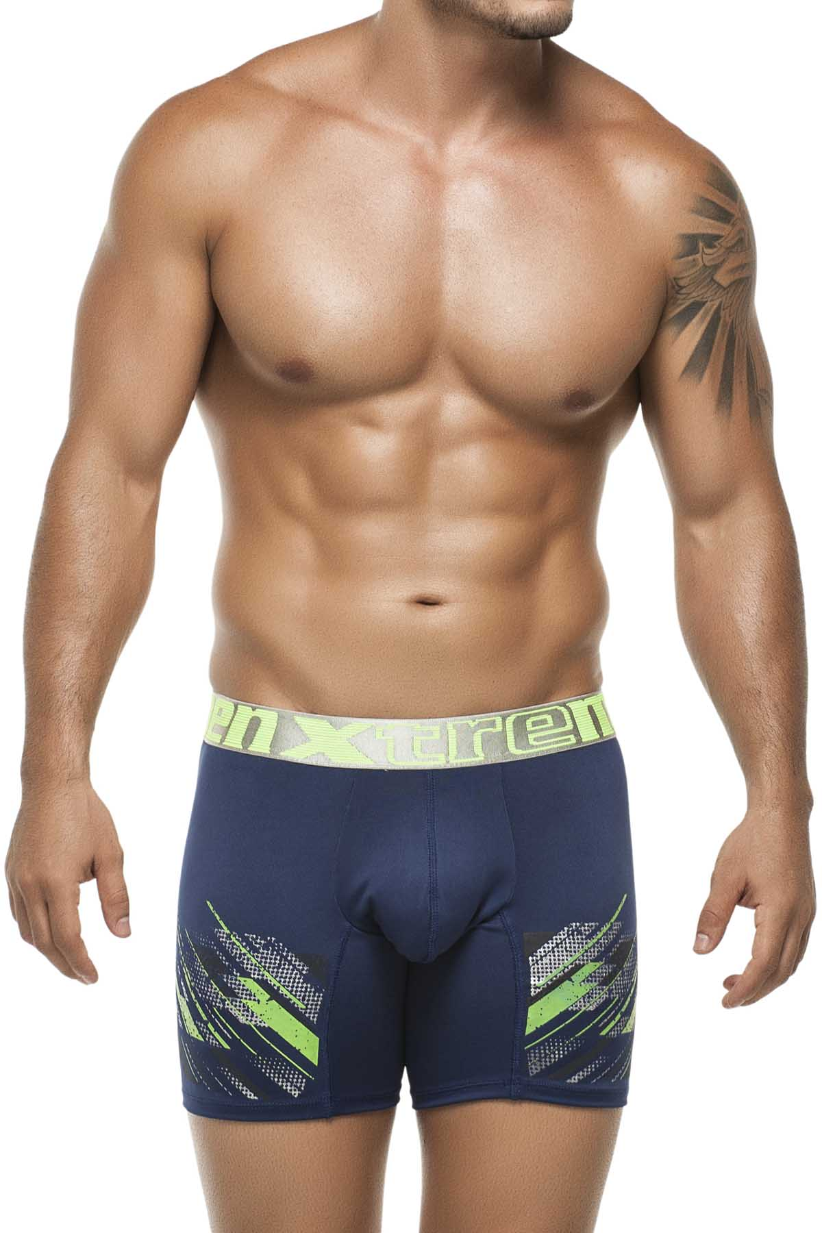Xtremen Blue Craquel Boxer Brief