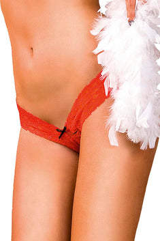 Baci Red Lace Low-Rise G-String