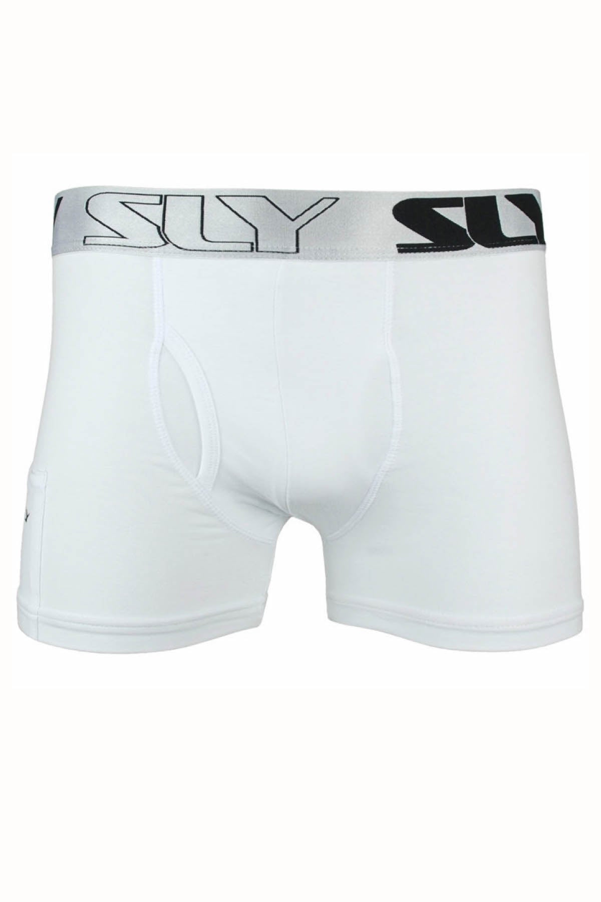 Sly White Solid Boxer Brief