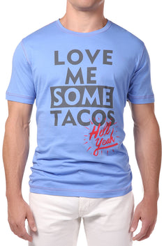 Spenglish Blue Love Tacos Tee