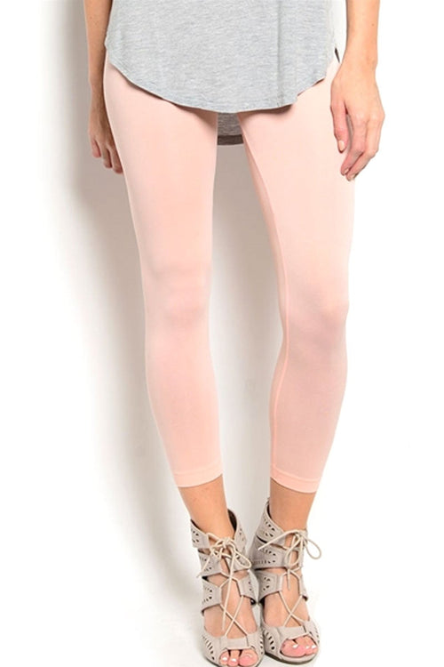 Soho Girls Peach Seamless Leggings - CheapUndies.com