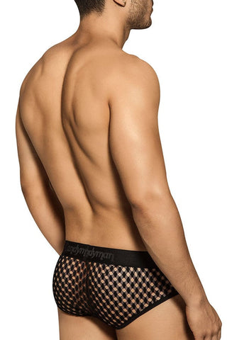 Candyman Black Mesh Effect Brief