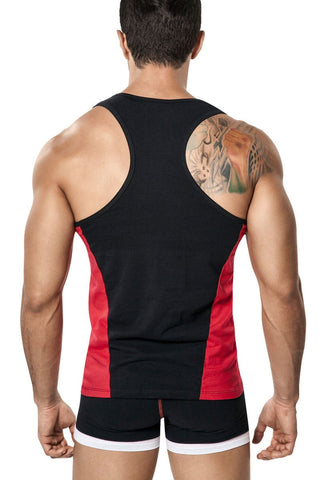 Black & Red Lines Tank Top