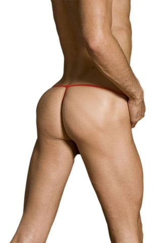 Male Basics Red Tulle Thong
