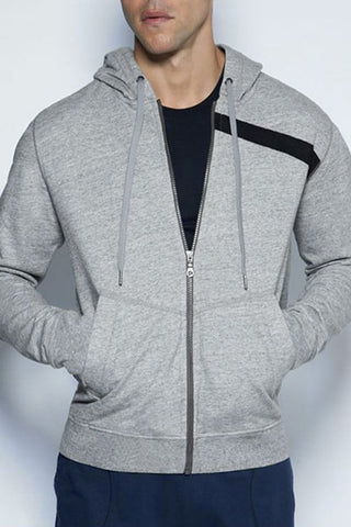 C-IN2 Heather Grey Cotton Hoodie