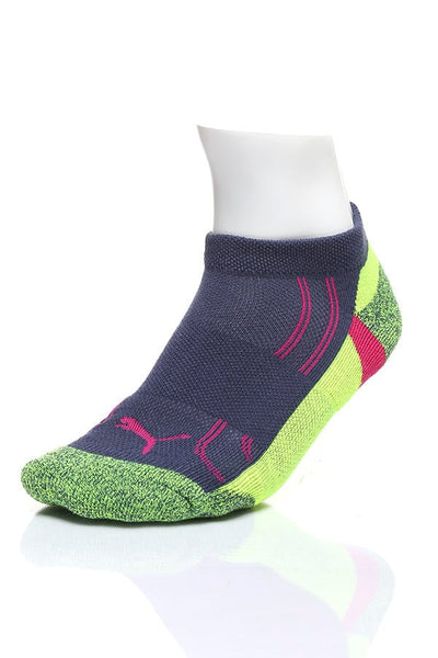 Puma Fluo White & Navy Low-Cut 3-Pack Socks - CheapUndies.com