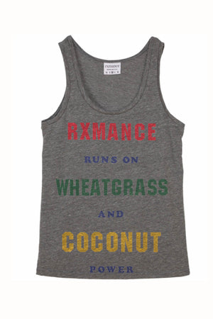 Rxmance Unisex Grey Runs On Tank Top