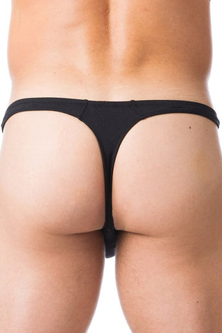 Gregg Homme Black Charged Thong