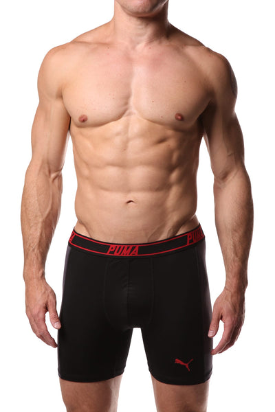 PUMA Black & Grey Solid Side Panel Boxer Brief - CheapUndies.com