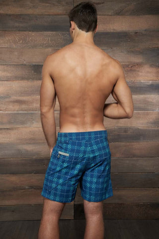 C-IN2 Simply Navy Plaid Cargo Swim Trunk