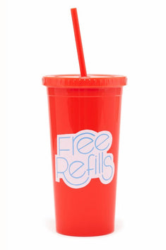 Ban.do Free Refills Tumbler with Straw