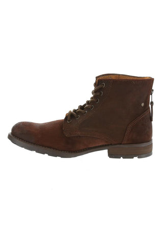 GBX Dark Brown Leather Lace up Boot