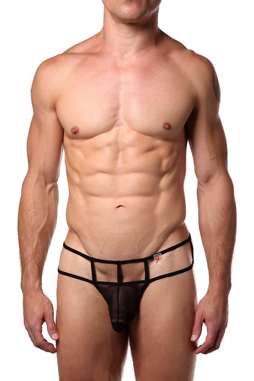 PetitQ Black Calva Thong - CheapUndies.com