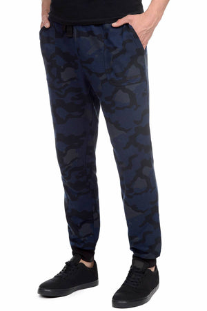 2(X)IST Blue-Camo Core French Terry Sweatpant