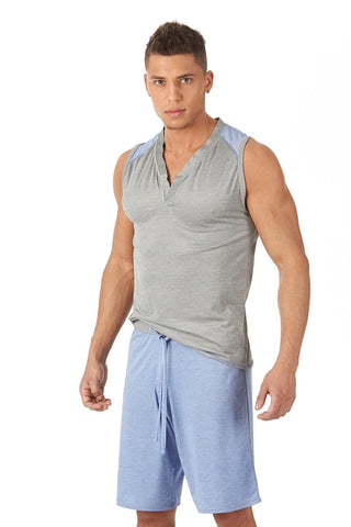 Gregg Homme Grey Modal Lounge Muscle Shirt