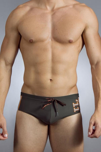 Baskit Army Green Lucky 11 Swim Brief