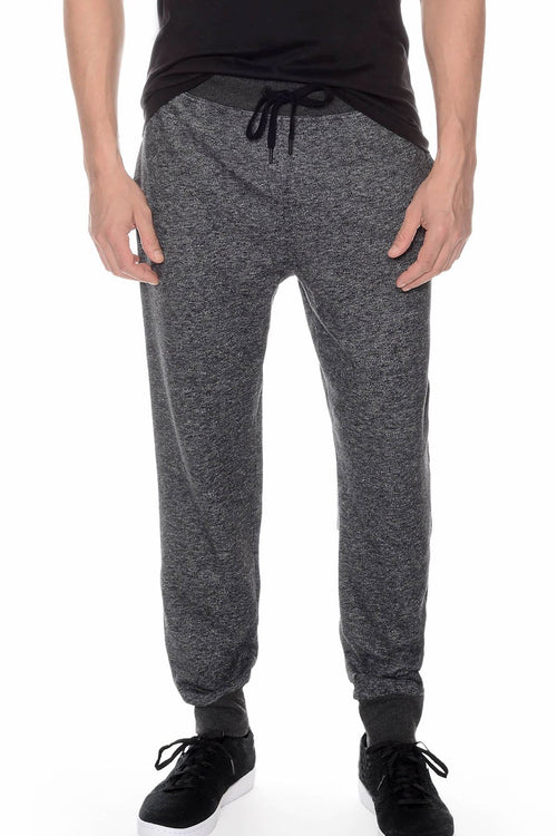 2(X)IST Heather-Black Core French Terry Sweatpant - CheapUndies.com