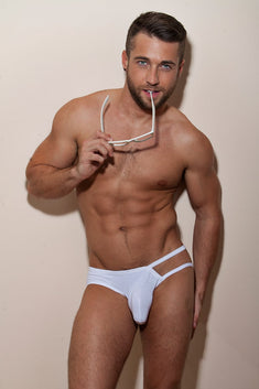 CheapUndies White Exposed Brief