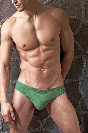 Contour Army-Green Luxe Jersey French Brief