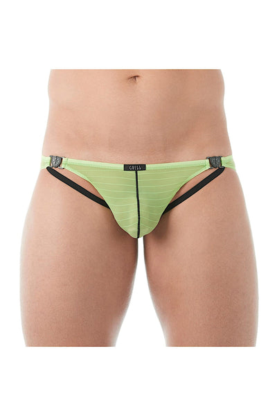 Gregg Homme Lime Mesh Suspender C-Ring Brief - CheapUndies.com