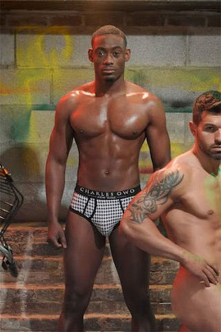 Charles Owo Hounds Tooth Brief