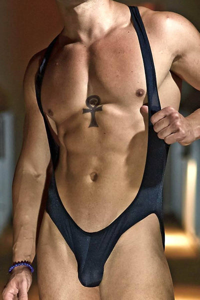 Extreme Collection Black Master Bodysuit - CheapUndies.com