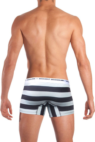 Mosmann Skye Blue & Brown Eco Boxer Brief
