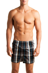C-IN2 Black Woven Plaid Boxer