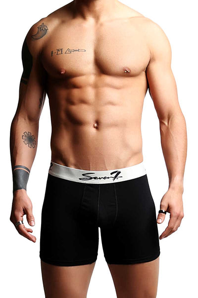 2-Pack Seven7 Solid Black Boxer Brief - CheapUndies.com