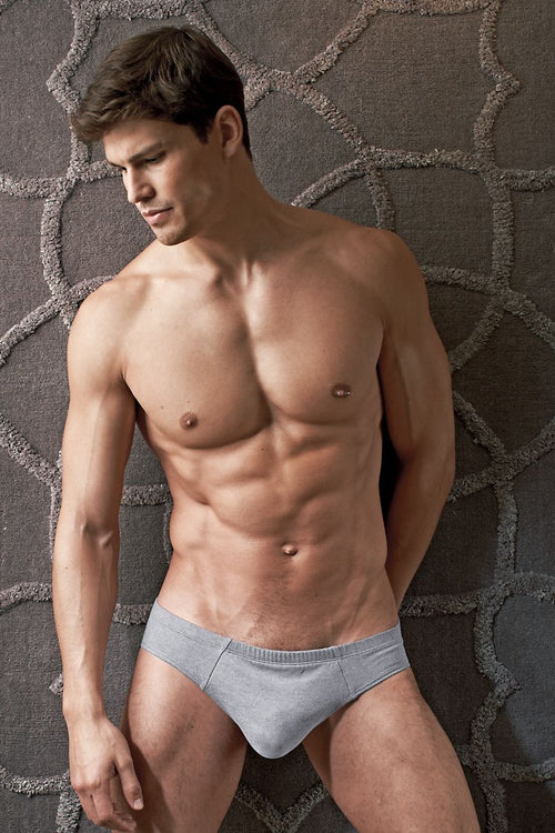 Contour Grey Luxe Jersey French Brief - CheapUndies.com