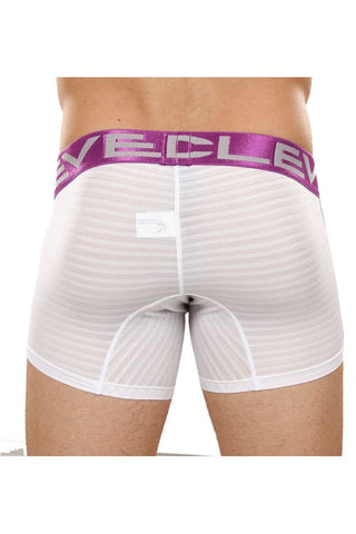 Clever White Mesh Lines Boxer Brief