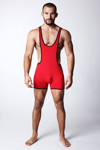 Timoteo Red Cell Block Singlet