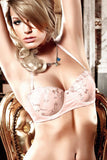 Baci Light Pink Four Way Embroidered Strapless Convertible Bra