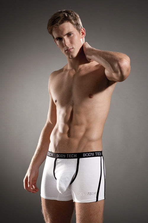 Body Tech White Maximizer Boxer Brief - CheapUndies.com
