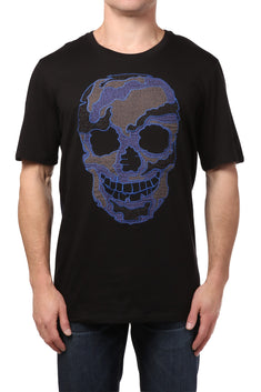 Smash Black Patchwork Skull Shirt