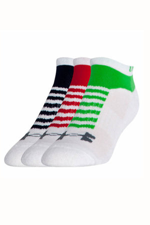 Under Armour White No-Show 3pk Training Socks