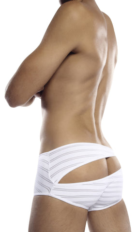 PetitQ White Stripe Boxer Brief