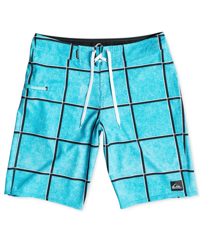 Quiksilver Men's Electric Stretch Windowpane Check Boardshorts - CheapUndies.com