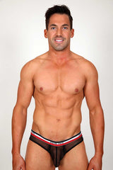 Pistol Pete Black Rally Mesh Brief