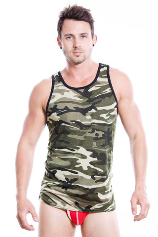 Timoteo Green Camo Tank Top