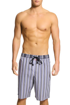 English Laundry Grey Stripe Drawsting Short