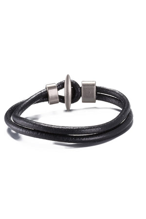 Black Leather Infinity Bracelet - CheapUndies.com