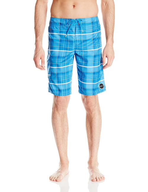 O'Neill Men's Santa Cruz Plaid Board Short Bright Blue - CheapUndies.com